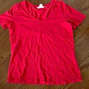 Red T-shirt from Forever 21